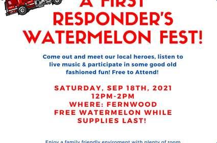 A First Responder's Watermelon Fest
