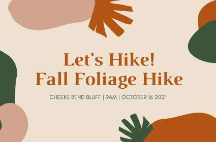 Let's Hike! Fall Foliage Hike at Cheeks Bend