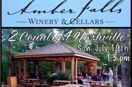 Amber Falls Winery~ LIVE MUSIC with 2Country4Nashville 07/19/20
