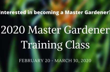 Master Gardener Training Class