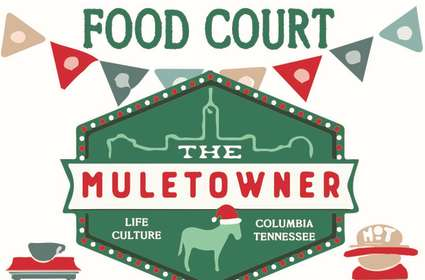 Merry Muletowner Food Court of Food Trucks at Night of Light