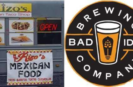 Rizo's Mexican Taco Shop at Bad Idea Brewing