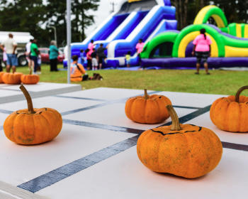 Family fun in October at the Wilson's Mills Pumpkin Festival.