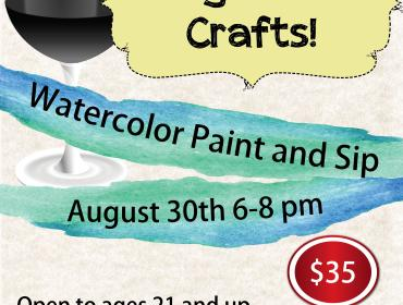 Watercolor Paint and Sip