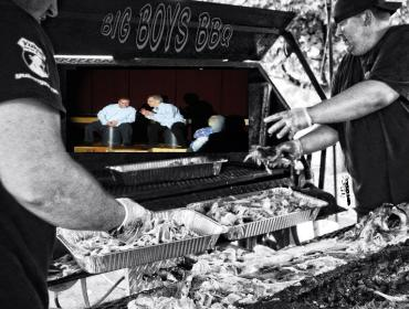 FREE catered pulled pork Dinner theatre!