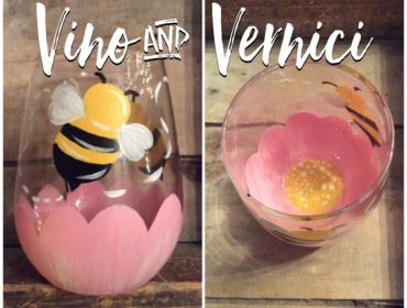 Sip & Paint: Bumblebee Stemless Glasses