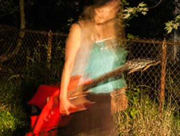 Meria/HauntedGypsy - guitarist performs at House of Guitars Outdoor Stage