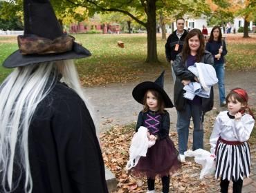 Trick-or-Treating in the Village