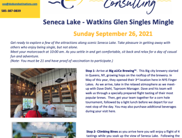 Seneca Lake - Watkins Glen Singles Mingle