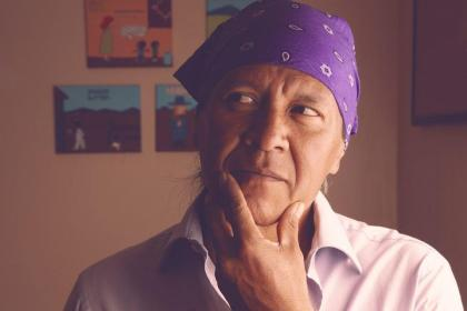 Native American cartoonist Ricardo Cate.