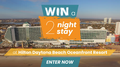 Win a 2 night stay at Hilton Daytona Beach Oceanfront Resort