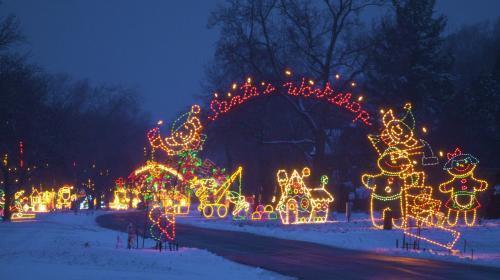 Santa's Workshop display at Lights on the Lake Syracuse