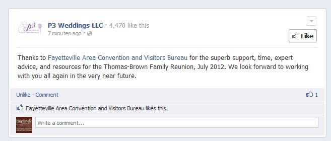 facebook testimonial