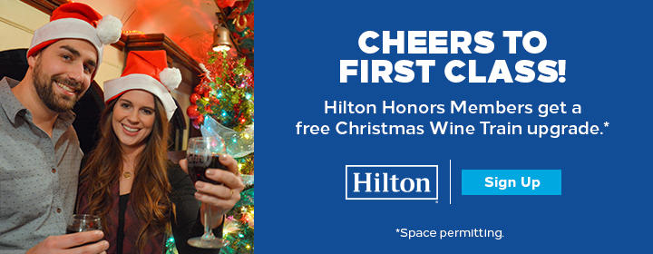 Christmas Wine Train Presented by Hilton