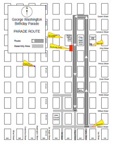 George Washington Birthday Parade Route