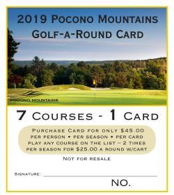 2019 Golf-A-Round Card