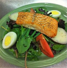 Salmon Niçoise salad at Orange Clover