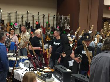 The Indiana Guitar Show features a wide range of musical items, not just guitars.