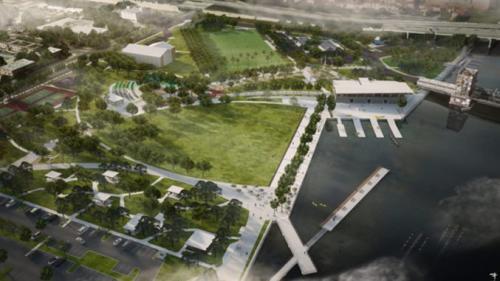 Julian B Lane Park aerial