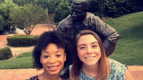 Selfie with Otis Redding Statue