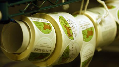 Cheese labels Chapel Hill Creamery