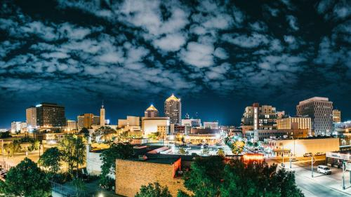 Albuquerque Night Skyline Lights