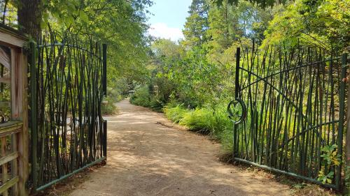 Gate to pathway at North Carolina Botanical Garden