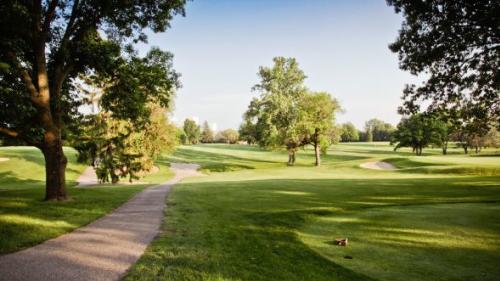 -	Sunny Path Along The Course At Meadowbrook at Clayton In Clayton, Ohio