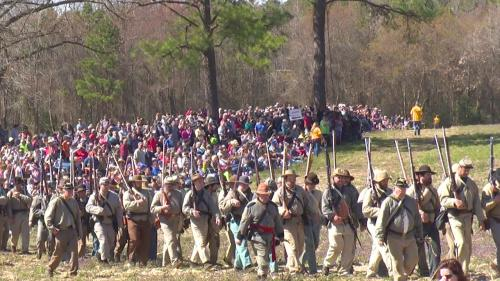 Bentonville Reenactment March 21 - 22, 2020 event photo of troops.
