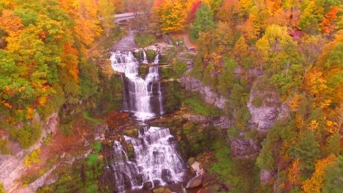 Fall at Chittenango Falls