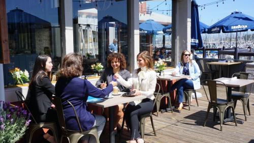 Women Eating at Paluca Trattoria