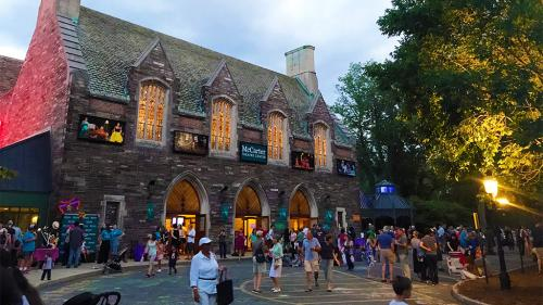 A view of the outside of the McCarter Theater