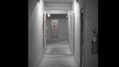 Possible ghosts inside Faust Hotel in New Braunfels.