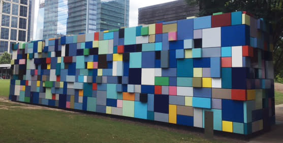 Discovery Green Wall