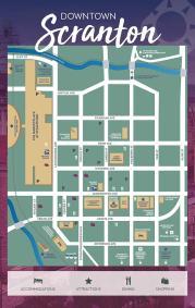 Downtown Scranton Map