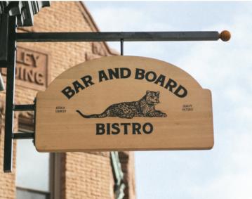 Bar and Board Sign
