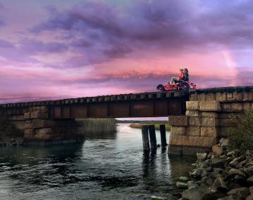 Rail Sunset