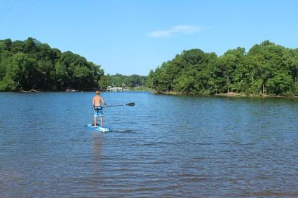 Paddleboarding at Latta Nature Preserve