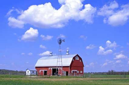 Prophetstown State Park barn