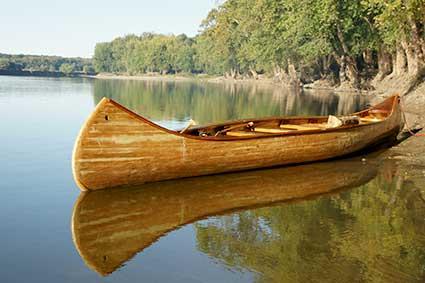 Fort Ouiatenon canoe