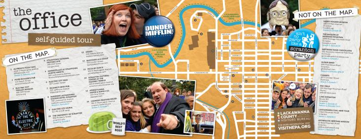 The Office Self-Guided Tour Map