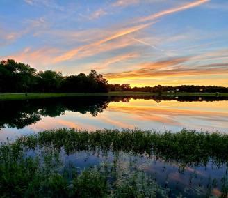 Sunset view of Kopps Lake