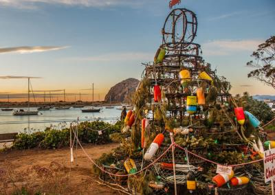 A tree at the Morro Bay tree lighting event