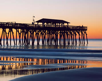 Sunrise at the Myrtle Beach State Park Pier