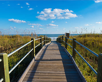 Trail to the beach in Myrtle Beach, SC