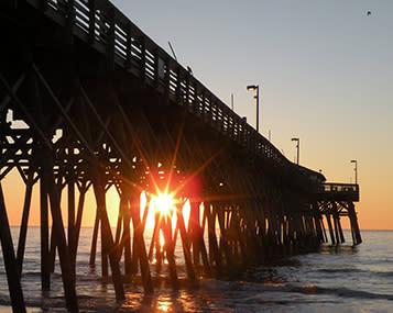 Myrtle Beach, SC pier sunrise