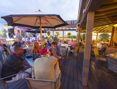 The Coachman Restaurant & Lounge outdoor seating dining