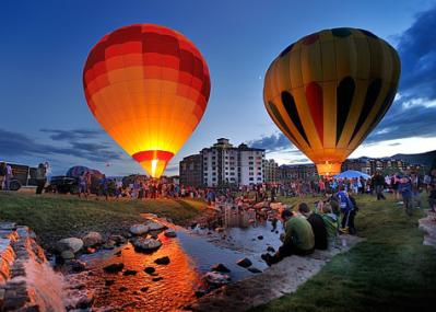 hot air balloon glow