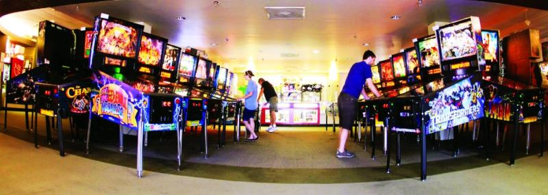 People playing games at Pinballz Arcade in austin texas
