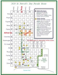 2020 St Pats Parade Route